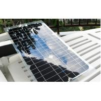 Customized RV Flexible Solar Panels Long Service Life With Transparent Wall
