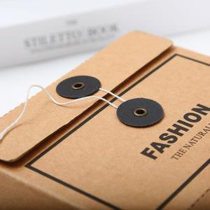 Envelope Design Kraft Cardboard Paper Box For Unerwear T Shirt Socks