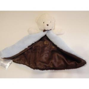 China Embroidered Carter'S Blue Bear Security Blanket Personalized Design For Baby on sale