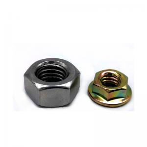 China 8 Grade Carbon Steel Color Zinc Plated Hex Head Nuts With Flange , Free Sample on sale