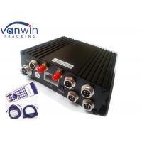 Video SD Card Mobile DVR with 4 Cameras , Bidrectional Talk H.264 Network DVR