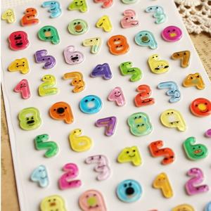 China Digital Funny Cartoon Stickers Waterproof With Crystal on sale