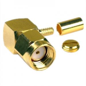China 18GHZ Gold plated Straight Crimp SMA Plug Male for RG174 RG316 RF Connector on sale