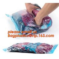 garment canvas tote with vacuum bag, Vacuum hang compressed bags for Down jacket, Compressed Saving Suitcase Space bags