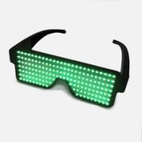 China Battery Powered Custom Light Up Glasses With 8 Flashing Patterns on sale