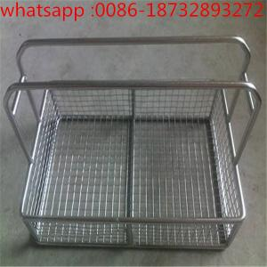 China Easy to clean and durable stainless steel wire mesh filter disinfection basket/medica wire mesh baskets on sale