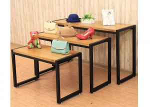 Quality Fashion Style Merchandise Display Tables , Lightweight 3 Tier Retail Display for sale