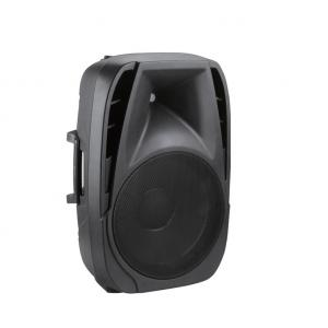 China 15 inch Active Speaker System Portable PA with Battery handle and wheels , Trolley speakers on sale
