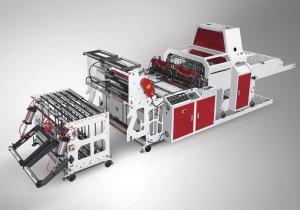 China High Speed Poly Bag Cutting Sealing Machine For Making Shopping Bag 500X2 on sale