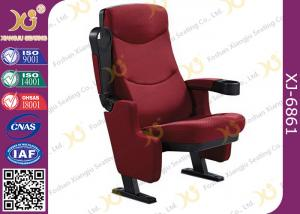 China Tip - Up Seat Automatic Return Cinema Room Seating Ground Fixed With Folding Cup Holder on sale