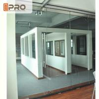 China Frameless Modern Office Partitions Clear Color 5/8/12MM Glass Thickness on sale