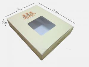 China Papel reciclável de C2S/caixa de dobramento papel de arte com PVC Windows para o chá, Pantone/CMYK 12 x 17 x 3cm on sale