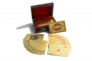 China 135g/pc Gold Plated Playing Cards with Burj Dubai Tower Design Glitter Business Cards In Stock on sale