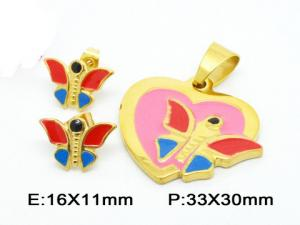 China Fantasy Mini Butterfly Pendant Costume Jewellery Sets In Colorful Enamel on sale