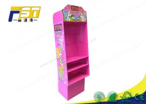 China Pegboard Corrugated Pop Displays , Pop Up Display Stands With Cmyk Offset Printing on sale