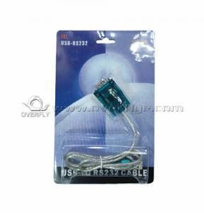 China Audio IC USB to RS232 Cable  connect PC laptop or desktop computer on sale