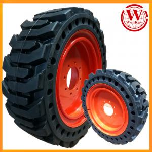 China original rim design bobcat lynx solid skid steer loader tires rims 10-16.5 on sale