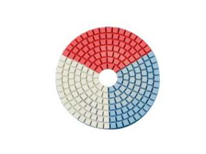 China Round Shape Diamond Resin Polishing Pads Wear Resistance Three Color In One on sale