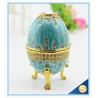 easter egg wedding gift /wedding gift / Easter egg/ blue colour with diamond