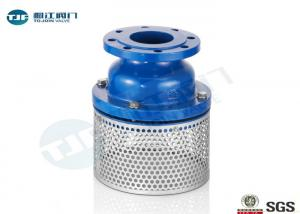 China Cast Iron Body Flanged Non Return Foot Valve With Stainless Strainer PN10 Class on sale