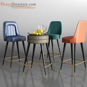 China PU Leather Upholstered Bar Stools , Modern Bar Chairs For Game Club on sale
