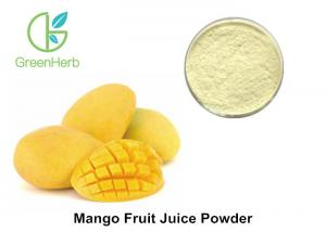 China Light Yellow Organic Fruit Juice Powder , Food Grade Raw Mango Drink Powder on sale