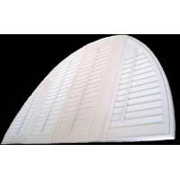 Scalloped Grey Indoor Window Shutters Basswood Manual With Tilt Bar
