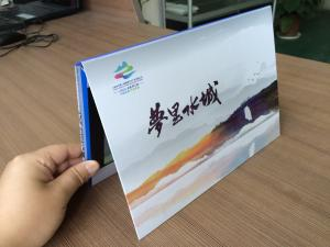 China 7inch video invitation card company Presentation logo imprinted video cards/booklets on sale