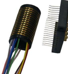 China 15 Circuits Separate Slip Ring Speed Up To 100 Rpm Continuous Pin Gold Plated Contact Materials on sale