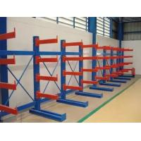 China Single / Double Side Warehouse Cantilever Steel Rack Custom Size ISO9001 / SGS on sale