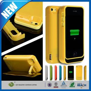 China Thin Rechargeable Cell Phone Battery Case Charger Pack 4200mAh For Iphone 5C on sale