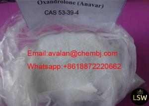 China Large Muscle Mass Gaining Steroids Oxandrolone Anavar CAS 53 39 4 White Crystalline Powder on sale