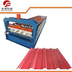 China 5 Ribs Pre Painted Galvanized Wall Panel Roll Forming Machine For Roof / Wall on sale