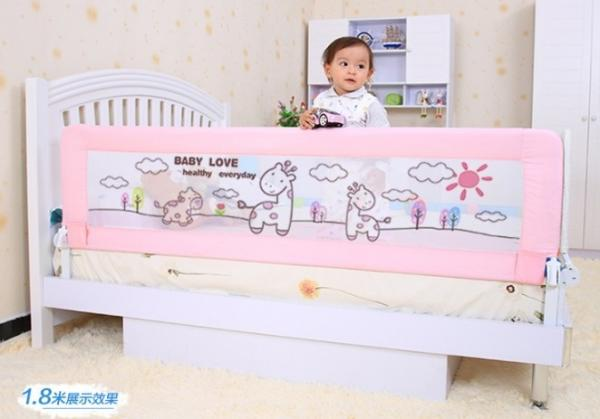 Foldable Baby Bed Railing Safety Toddler Guard Rail 150CM Images