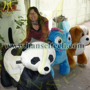 China Hansel coin operated childrens rides car battery operated ride animals on sale