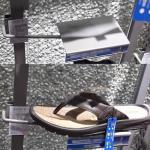Faceout da exposição das sapatas dos calçados display-GCNM-06