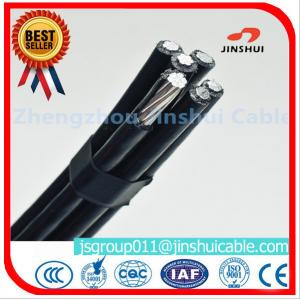 China 4 * 50mm Overhead Electrical Cable , Quaduplex Pvc Sheathed Cable For Power Line on sale