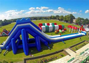 China High Safety Giant Inflatable Slip And Slide , Inflatable Slippery Slide CE Certificated on sale