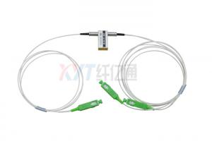China Mechanical 1X2 1260-1650nm Single Mode Fiber Optical Switch Fiber Length 1m SC FC LC on sale