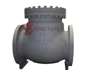 China API Swing Check Valve Cast Steel 300LB Fully Open Metal Seal Hardfaced on sale