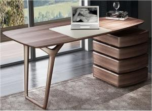 China American Dark Walnut Wood Furniture Nordic design of Writing Desk Reading table in Home Study room Office Furniture on sale