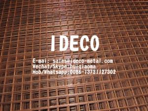 China Self-Colour Fine Copper Coated Welded Wire Mesh, Red Copper Washed Industrial Welded Mesh Panels on sale