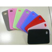 Red / Black / White Customized Silicone Cell Phone Cover / Case For Apple iPhone