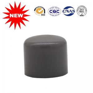 China Round Plastic Cap PVC Water Pipe Fittings , Black Pvc Water Pipe Connectors on sale
