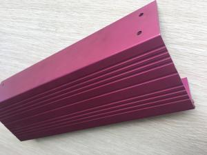 China Pink Anodized Standard Aluminum Extrusion Profiles With Cnc Drilling And Tapping on sale