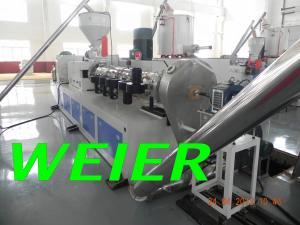 China Máquina de reciclaje plástica de WPC/del PVC, maquinaria de la granulación del plástico 90kw on sale