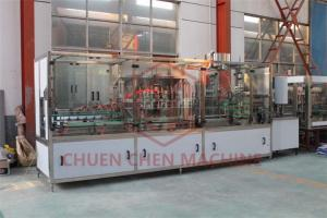 China Twist Off Cap Sauce Filling Machine , Linear Type Sauce Bottling Machine on sale
