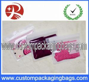 China OPP / CPP Plastic Clear Ziplock Bags Custom For Garment Packaging on sale