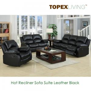 China Modern Recliner Sofa,Loveseat,Recliners,Chair,Leather Black Sofa set,Bonded leather sofa,Air Leather Sofas with Console on sale