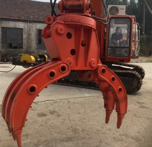 China Large - Diameter Steel Pipe And Sheet Metal Grapple Machine For Auto Dismantling on sale